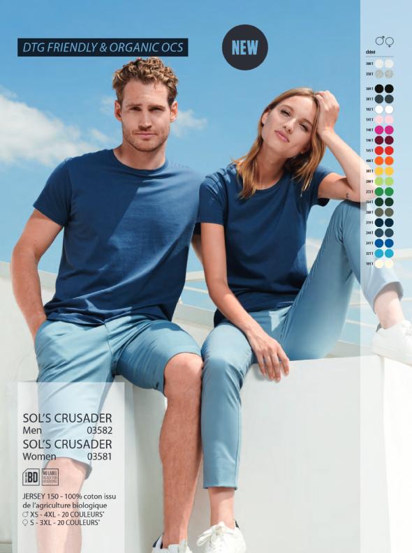 T-shirt bleu coton bio